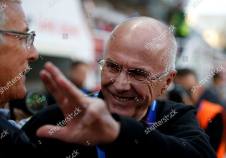 Sven-Goran Eriksson (R) head coach of Philippines shakes hand with Marcello Lippi head coach of China during the 2019 AFC Asian Cup group C preliminary round match between Philippines and China in Abu Dhabi, United Arab Emirates, 11 January 2019.
