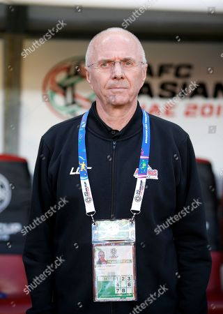 Sven-Goran Eriksson head coach of Philippines stands during the 2019 AFC Asian Cup group C preliminary round match between Philippines and China in Abu Dhabi, United Arab Emirates, 11 January 2019.