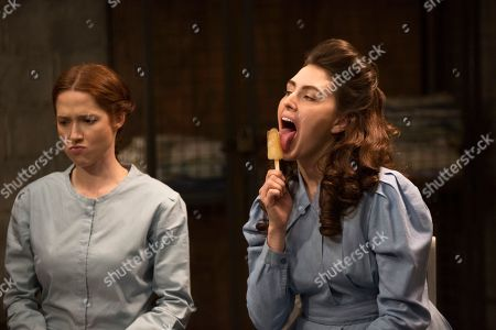Stock Image of Ellie Kemper as Kimmy Schmidt and Lauren Adams as Gretchen Chalker