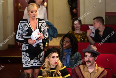 Jane Krakowski as Jacquelin White, Zosia Mamet as Sue Thompsteen and Charlie Hankin as Marshall