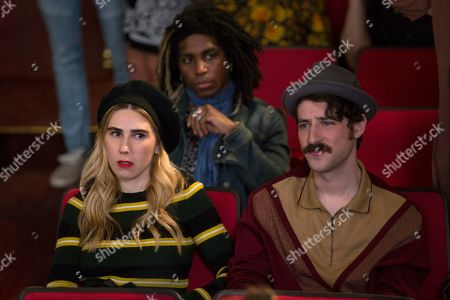 Stock Image of Zosia Mamet as Sue Thompsteen and Charlie Hankin as Marshall