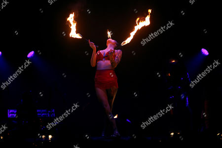Stock Photo of Heather Holliday performers at the 'Bread & Circus - World Buskers Festival' in Christchurch, New Zealand, Jan. 11, 2019.