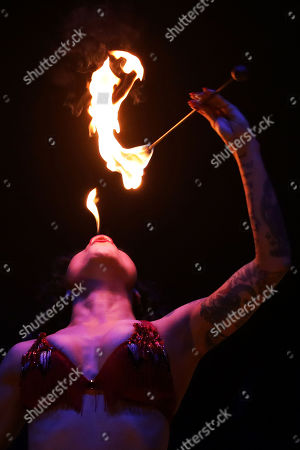 Editorial image of Bread & Circus: World Buskers Festival, Christchurch, New Zealand - 12 Jan 2019