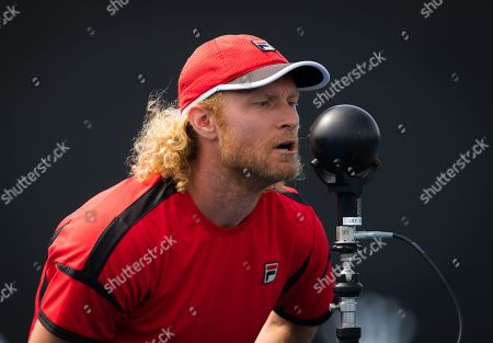 Dmitry Tursunov during practice ahead of the 2019 Australian Open Grand Slam tennis tournament