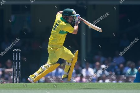 Aaron Finch of Australia bats during the first One Day International match between Australia and India at the SCG in Sydney, Australia, 12 January 2019.