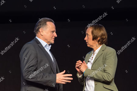 Alternative for Germany (AfD) Party deputy chairwoman Beatrix von Storch (R) and Alternative for Germany (AfD) Party deputy chairman Georg Pazderski (L) during the European election convention of the AfD in Riesa, Germany, 12 January 2019. The AfD party members gather from 11 to 14 January 2019 in Riesa, for the election of their candidates for the European elections. European elections will take place from 23 to 26 May 2019.