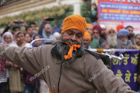 Editorial photo of Religious procession to mark the birth anniversary of Guru Gobind Singh in Amritsar, India - 12 Jan 2019