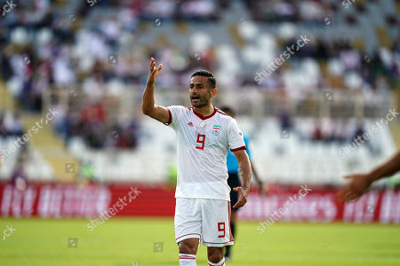Omid Ebrahimi of Iran during Vietnam v Iran at the Al-Nahyan Stadium in Abu Dhabi, United Arab Emirates, AFC Asian Cup, Asian Football championship