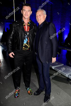 Luke Evans and Santo Versace in the front row