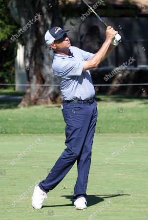 Stock Image of Davis Love III hits from the 15th fairway during the second round of the PGA Sony Open at the Waialae Country Club in Honolulu , HI - Michael Sullivan/CSM