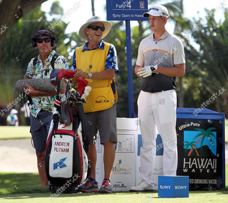 Andrew Putnam tees off on the second hole during the second round of the PGA Sony Open at the Waialae Country Club in Honolulu , HI - Michael Sullivan/CSM