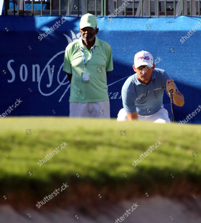 Andrew Landry lines up his putt on the 17th hole during the second round of the PGA Sony Open at the Waialae Country Club in Honolulu , HI - Michael Sullivan/CSM