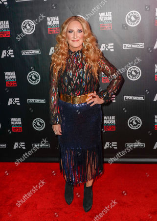 Lee Ann Womack arrives at Willie: Life & Songs Of An American Outlaw at Bridgestone Arena, in Nashville, Tenn