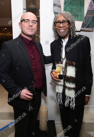 """Stock Photo of James Laxton, Kenneth Walker. James Laxton and Kenneth Walker seen at the special screening of """"If Beale Street Could Talk"""", in Los Angeles"""
