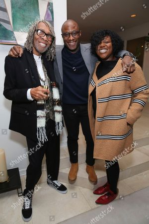 "Stock Image of Kenneth Walker, Barry Jenkins, Joi McMillon. Kenneth Walker, writer/director Barry Jenkins and Joi McMillon seen at the special screening of ""If Beale Street Could Talk"", in Los Angeles"