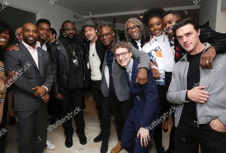 "Joi McMillon, Michael Beach, Stephan James, Brian Tyree Henry, Brad Pitt, Barry Jenkins, Nicholas Britell, Kenneth Walker, KiKi Layne, Colman Domingo, Finn Wittrock. Joi McMillon, Michael Beach, Stephan James, Brian Tyree Henry, Brad Pitt, writer/director Barry Jenkins, Nicholas Britell, Kenneth Walker, KiKi Layne, Colman Domingo and Finn Wittrock seen at the special screening of ""If Beale Street Could Talk"", in Los Angeles"