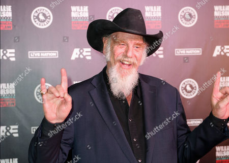 Ray Benson arrives at Willie: Life & Songs Of An American Outlaw at Bridgestone Arena, in Nashville, Tenn