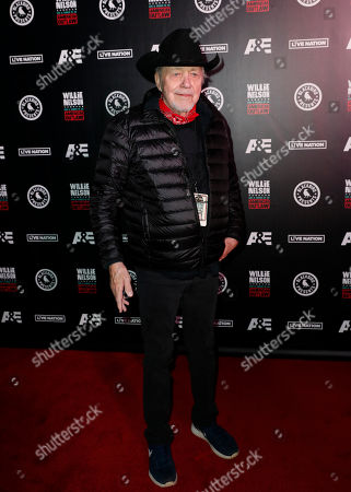 Stock Picture of Bobby Bare arrives at Willie: Life & Songs Of An American Outlaw at Bridgestone Arena, in Nashville, Tenn