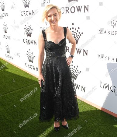 Australian presenter Deborah Knight attends the Crown IMG Tennis party at the Crown in Melbourne, Australia, 13 January 2019. The Australian Open tennis tournament will take place from 14 January to 27 January 2019.