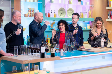 Stock Picture of Tim Lovejoy, Simon Rimmer, Ruby Wax, Joseph McFadden and Emily Atack