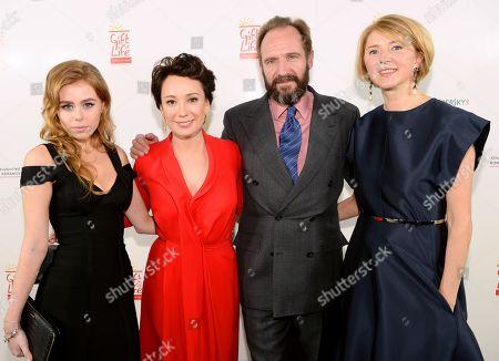 Maria Dyatlova, Chulpan Khamatova, Ralph Fiennes and Lyuba Galkina