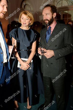 Stock Image of Ralph Fiennes and Lyuba Galkina
