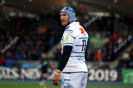Cardiff Blues winger Tom James (11) during the Heineken Champions Cup match between Glasgow Warriors and Cardiff Blues at Scotstoun Stadium, Glasgow