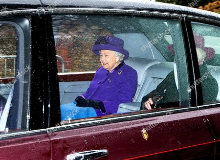 Queen Elizabeth II attends church, Sandringham