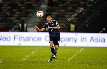 13th 19, Zayed Sports City Stadium, Abu Dhabi, United Arab Emirates; AFC Asian Cup football, Oman versus Japan; Wataru Endo of Japan