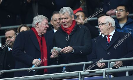 Stock Photo of L-r Sir Alex Ferguson, and former Chief Executive David Gill