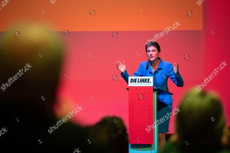 Co-leader of The Left (Die Linke) party faction Sahra Wagenknecht speaks during the German 'The Left' party's parliamentary fraction season starting meeting in Berlin, Germany, 13 January 2019. The party holds the annual event including speeches, discussions and artistic contributions with the motto 'For a strong welfare state and consistent disarmament'