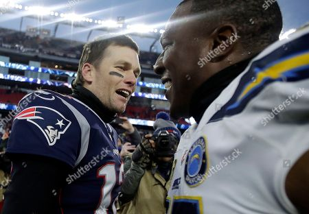 Editorial picture of Chargers Patriots Football, Foxborough, USA - 13 Jan 2019