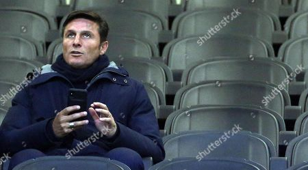 Fc Inter vice president Javier Zanetti attends the Italy Cup soccer match between Fc Inter and Benevento Calcio at Giuseppe Meazza stadium in Milan, Italy, 13 January 2019.