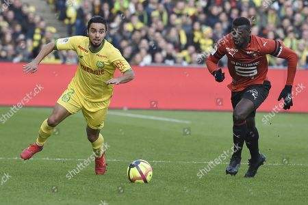 Editorial picture of Nantes v Rennes, French L1 match, La Beaujoire Stadium, Nantes, France - 13 Jan 2019