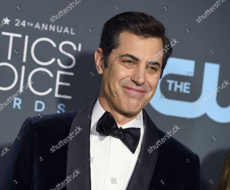 Josh Singer arrives at the 24th annual Critics' Choice Awards, at the Barker Hangar in Santa Monica, Calif