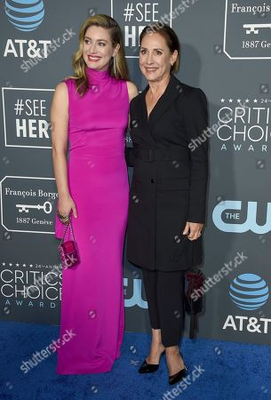 Zoe Perry, Laurie Metcalf. Laurie Metcalf, right, and her daughter Zoe Perry