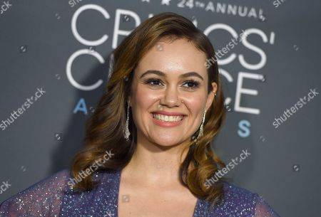 Dina Shihabi arrives at the 24th annual Critics' Choice Awards, at the Barker Hangar in Santa Monica, Calif