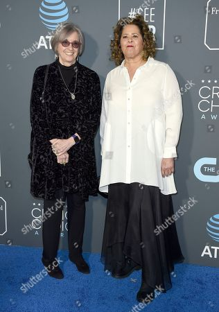 Stock Picture of Kristi Zea, Anna Deavere Smith. Kristi Zea, left, and Anna Deavere Smith arrive at the 24th annual Critics' Choice Awards, at the Barker Hangar in Santa Monica, Calif