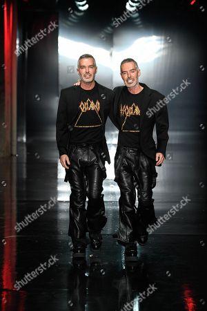 Dean Caten and Dan Caten on the catwalk