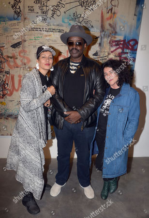Stock Image of Martha Diaz, Fab 5 Freddy, Janette Beckman