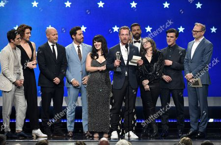 "Tom Rob Smith and the cast and crew of ""The Assassination of Gianni Versace: American Crime Story"" accept the award for best limited series at the 24th annual Critics' Choice Awards, at the Barker Hangar in Santa Monica, Calif"