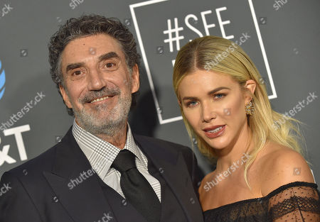 Stock Image of Chuck Lorre and Arielle Mandelson