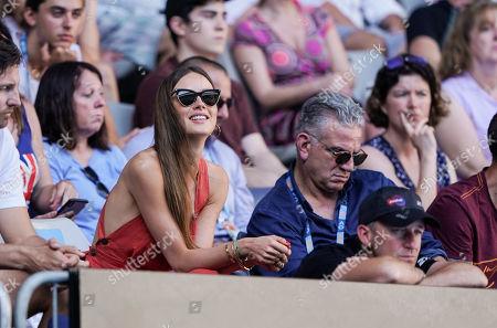 Stock Picture of Ester Satorova, wife of Tomas Berdych
