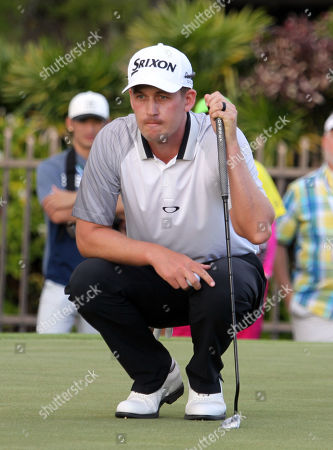 Andrew Putnam on the 15th green during the final round of the PGA Sony Open at the Waialae Country Club in Honolulu , HI - Michael Sullivan/CSM