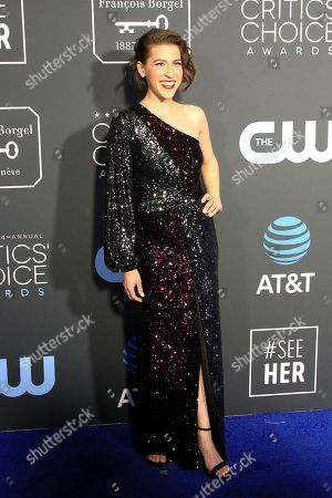 United States actress Eden Sher arrives for the 24th Annual Critics' Choice Awards at Barker Hangar in Santa Monica, California, USA, 13 January 2019. The Critics' Choice Awards honors the finest in cinematic and television achievement.