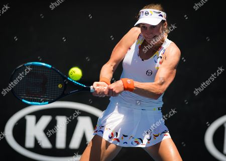 Ekaterina Makarova of Russia in action during her first-round match