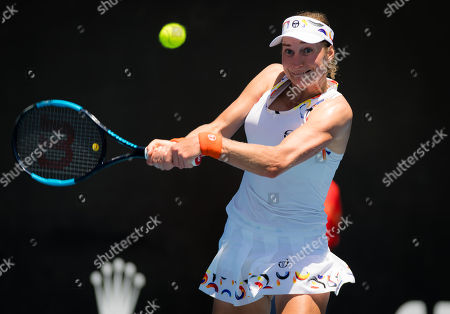 Stock Photo of Ekaterina Makarova of Russia in action during her first-round match