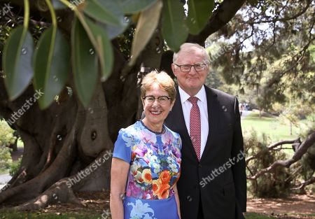 Stock Image of Federal Court of Australia and NSW Court of Appeal Judge Margaret Beazley poses for a photograph with her husband Dennis Wilson in Sydney, New South Wales (NSW), Australia, 13 January 2019.