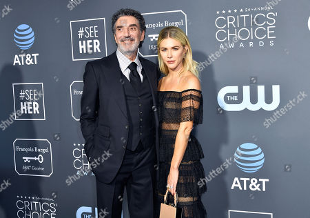 Stock Photo of Chuck Lorre and Arielle Mandelson