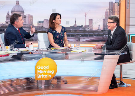 Piers Morgan and Susanna Reid with Lord Peter Mandelson